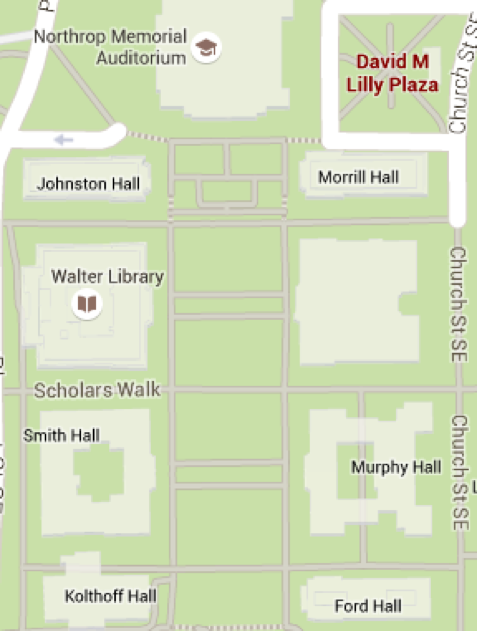 Map of East Bank and Lilly Plaza