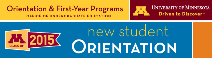 (please load images) New Student Orientation header