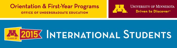(Please load images) Freshmen International Students