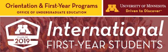 (Please load images) International First-Year Students