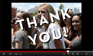 Thank you video screen