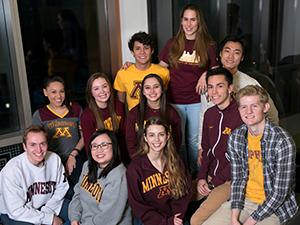 transfer student ambassador group photo
