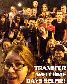 Transfer Welcome Days selfie