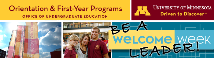 be a welcome week leader email header