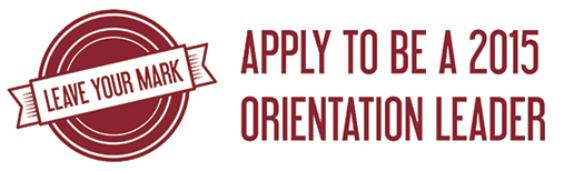 Orientation Leader recruitment email header
